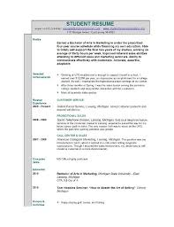 Samples Of Resumes For Highschool Students by Resume Example For Students