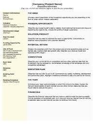 Executive Summary Resume Example Template Wind Turbine Technician Cover Letter