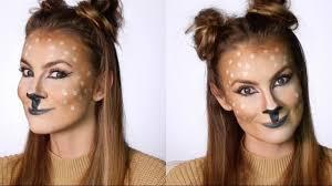 easy deer makeup tutorial snapchat filter halloween costume