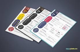 Resume Templates Bundle   ZippyPixels Simple Resume