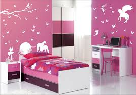 decoration ideas casual pink stripes wall painted girls rooms