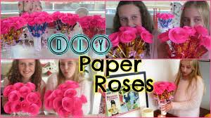 diy easy paper roses u2013 mothers day birthday gift or valentines
