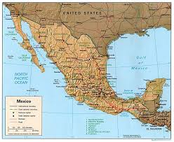 Physical Map Of South America by Map Of Mexico And South America Map Of South America And Mexico