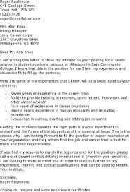 Cover Letter Examples For Jobs  cover letter resume example cover