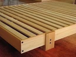 Wood Slat by Wood Slat Bed Frame U2013 Bare Look