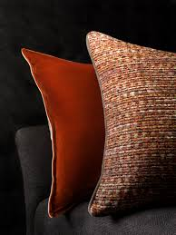Silk Peacock Home Decor by Silk Velvet Burnt Orange Cushion And Persia Cushion In Pomegranate