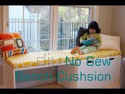 diy no sew bench cushion seat window seat cushion without sewing