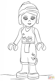 lego friends mia coloring page free printable coloring pages in