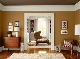 warm orange living room wall color cognac snifter ceiling