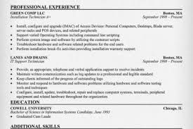 Computer Technician Resume Sample by Data Center Technician Resume Sample Reentrycorps