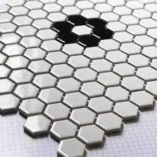 aliexpress com buy white hexagon ceramic mosaic tile kitchen