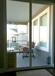 catflap in glass door pet door in glass