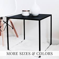 amazon com minimal black cube shaped side table stool end table
