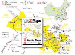 Map Of China Provinces Gansu Map Of Gansu Province China Lanzhou Jiayuguan Dunhuang