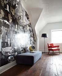craft your style decoupage and decorate with custom wallpaper black and white magazine photos create a stunning accent wall inside the contemporary guest room