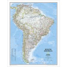 Physical Map Of South America by South America Classic Wall Map National Geographic Store