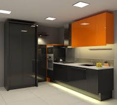 simply cool kitchen design idea with sleek black kitchen cabinets