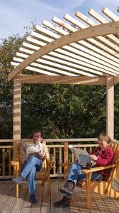 Canadian Woodworking Magazine by Build An Arched Pergola Canadian Woodworking Backyard