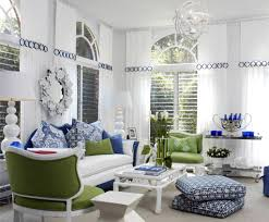 Classic Modern Living Room White Modern Living Room With Stylish Furniture With Green And