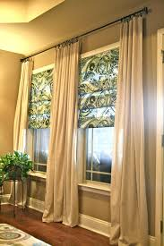 diy living room curtains no sew and no sew faux roman shades