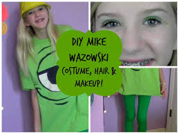 Halloween Costume Monsters Inc Diy Mike Wazowski Costume Hair U0026 Makeup Youtube