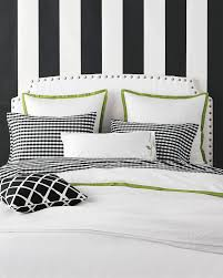 white duvet and pillow cases with apple green trim we can layer
