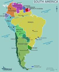 Physical Map Of South America by Colombia Physical Map Cities