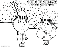 ben and holly coloring pages coloring pages to download and print