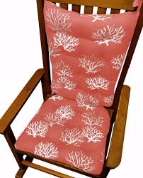 coastal coral salmon rocking chair cushions latex foam fill