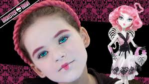 Halloween Barbie Makeup by C A Cupid Monster High Doll Costume Makeup Tutorial Youtube