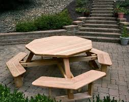 Free Wooden Picnic Table Plans by Best 25 Octagon Picnic Table Ideas On Pinterest Picnic Table