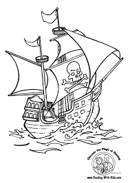 pirate ship coloring pages 4950
