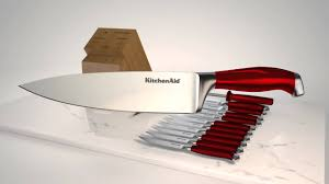 kitchenaid professional 14pc candy apple red cutlery set youtube