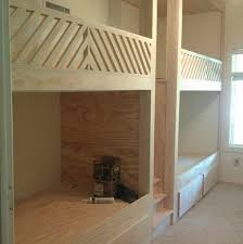 Wood Bunk Beds Plans by The Coolest Built In Bunk Beds And Diy Brass Hardware Little