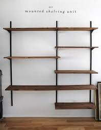 Build Wooden Shelf Unit by Best 25 Diy Wall Shelves Ideas On Pinterest Picture Ledge