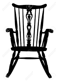 Antique Rocking Chair Prices Vintage Rocking Chair Stencil Royalty Free Cliparts Vectors And