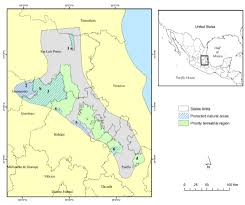 San Luis Potosi Mexico Map by Connectivity Among Jaguar Populations In The Sierra Madre Oriental