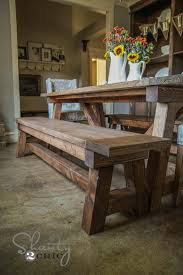 ana white 4x4 truss benches diy projects