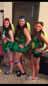 Halloween Ninja Turtle Costume Diy Ninja Turtles Costume Green Shirt Yellow Tank