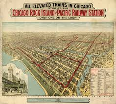 Public Transit Chicago Map by Elevated Trains In Chicago 1897