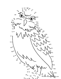 owl dot to dot game coloring pages hellokids com