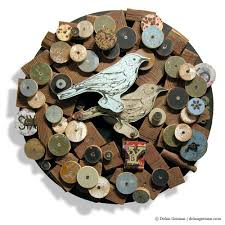 songbird circular country style upcycled wreath dolan geiman