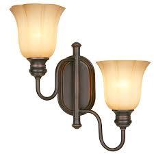 Swing Arm Wall Lamp Shop Allen Roth 15 In W 2 Light Dark Oil Rubbed Bronze Swing Arm
