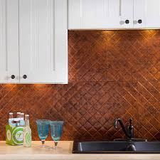 fasade backsplash quilted in moonstone copper
