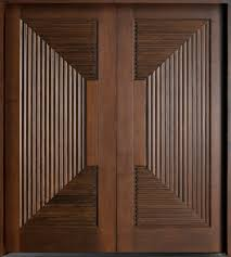 picturesque espresso wooden double modern front door with carving