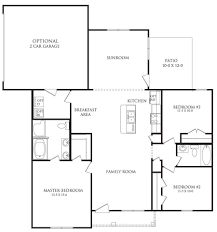 Sunroom Floor Plans by The Berkshire Floor Plan Amhurst Danric Homes