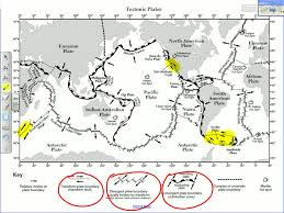 Tectonic Plate Map Earth Science Reference Tables Plate Tectonics Schooltube