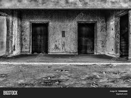 black and white halloween backgrounds interior of abandoned building creepy place darkness horror creepy