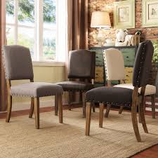 Overstock Dining Room Chairs by Tribecca Home Benchwright Nailhead Upholstered Dining Side Chairs