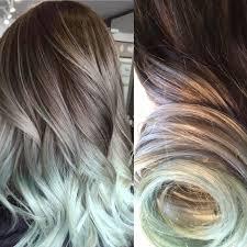 Grey Human Hair Extensions by Silver Hair Grey Hair Mint Hair Balayage Hair Ombre Hair
